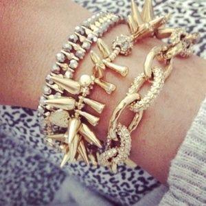Stella & Dot Christina Gold Chain Link Bracelet